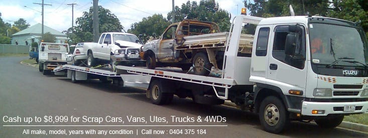 We pay Cash for all Scrap Cars, Vans, Utes, 4Wds and Trucks with Free Removals