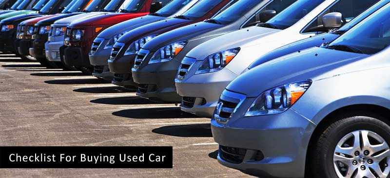 Checklist For Buying Used Car